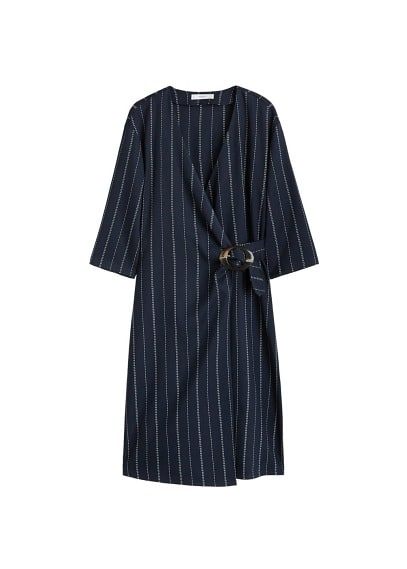 MANGO Belt wrap dress