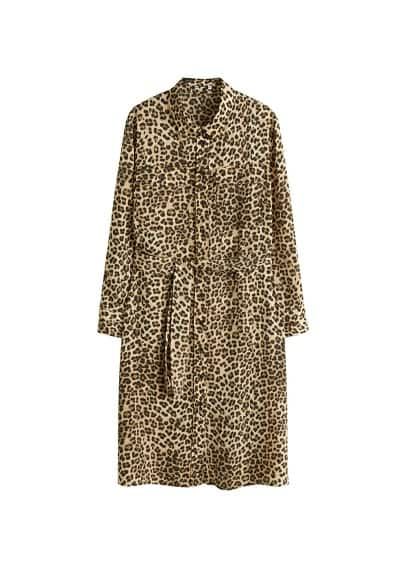 Violeta BY MANGO Leopard-print shirt dress