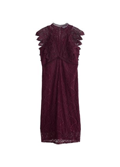 Güpür elbise Siyah,Bordo Ürün Resmi