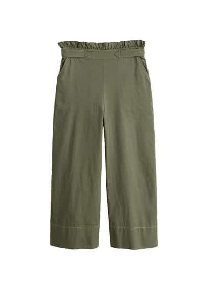 Kontrast dikişli pantolon Haki Renk Ürün Resmi