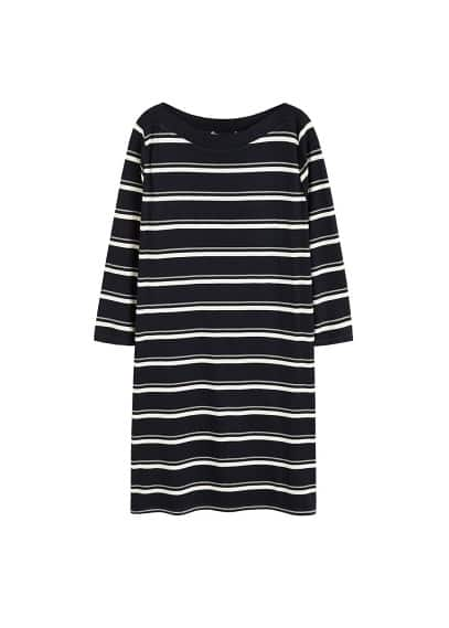 Violeta BY MANGO Striped ribbed dress