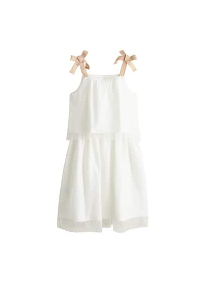 MANGO KIDS Polka dot tulle dress