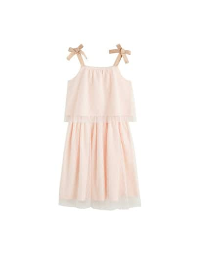 MANGO KIDS Polka dot tulle dress