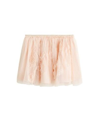 Jupe tulle fleurs relief