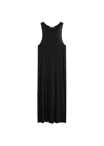 Lange jurk met splitjes