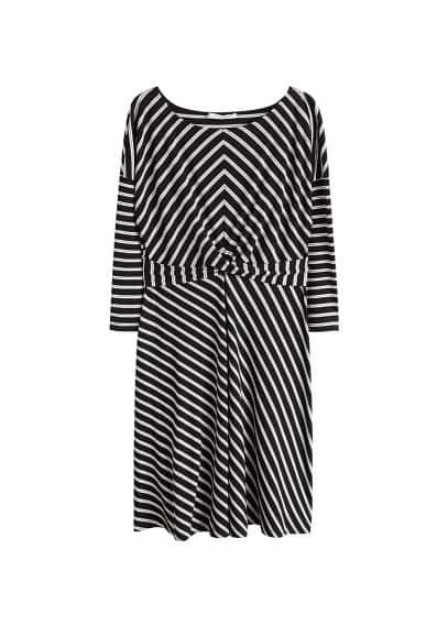 Violeta BY MANGO Knot striped dress