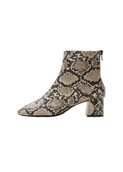 mango - Ankle boots im schlangen-look