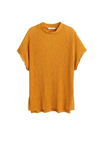 MANGO Pleated t-shirt