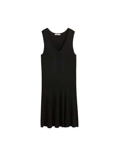 Violeta BY MANGO Contrast-bodice jersey dress