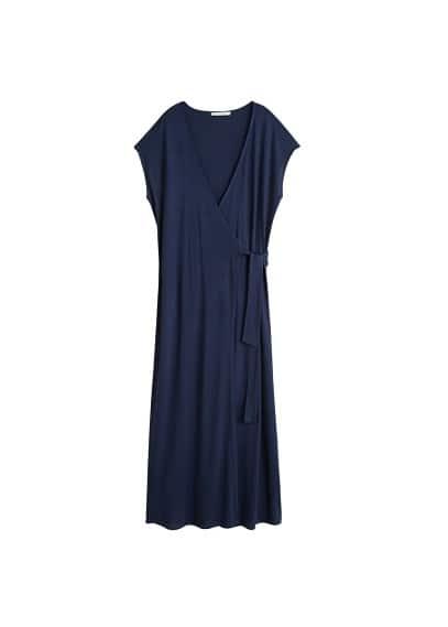 Violeta BY MANGO Bow wrap dress