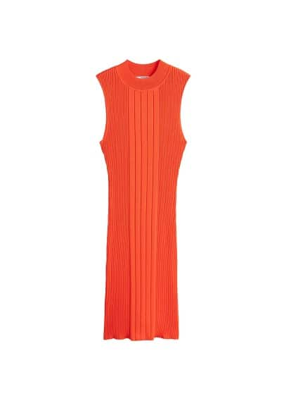 MANGO Striped ribbed dress