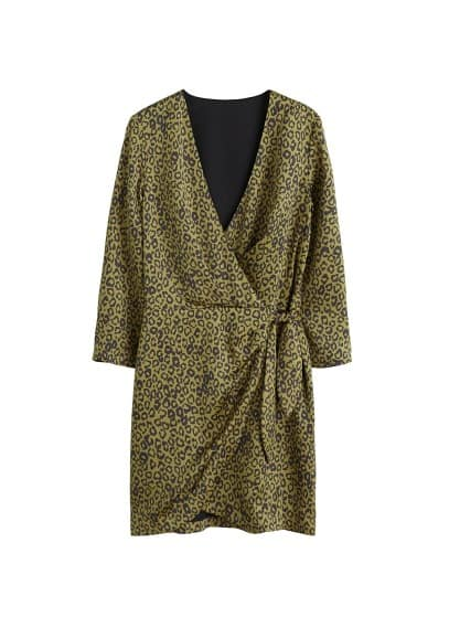 MANGO Leopard print wrap dress