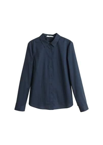 Pamuklu gömlek Lacivert,Beyaz Ürün Resmi