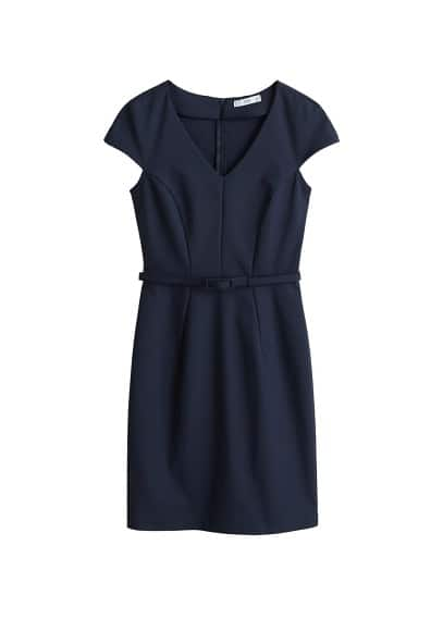 MANGO Belt cotton dress