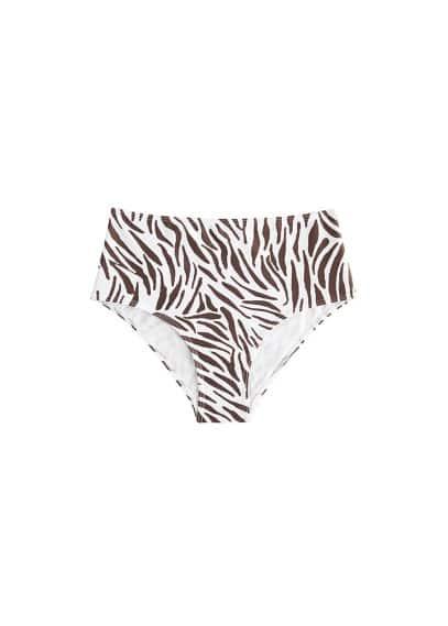 Culotte bikini taille haute zèbre