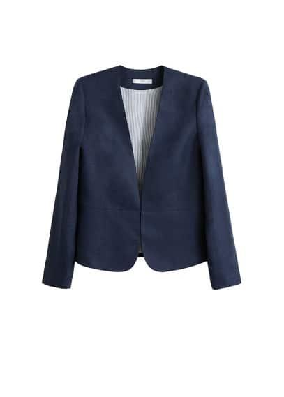 Keten blazer takım ceket Lacivert Ürün Resmi