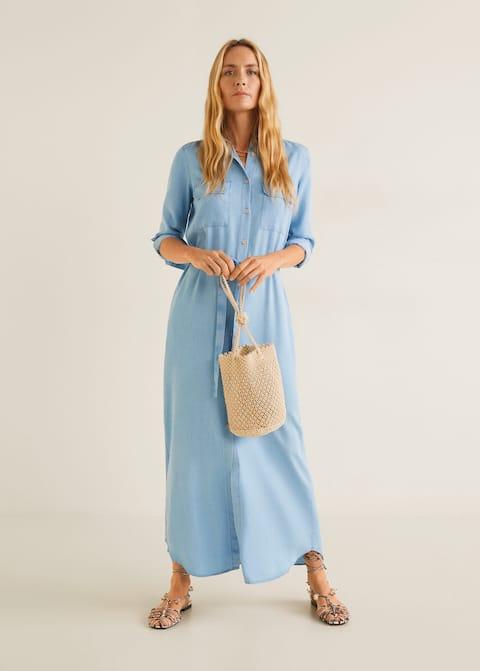 a5b174aecd6036 Soft jurk met zakken - Overzichtstekening