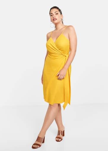 124ced0e46fd Φόρεμα κρουαζέ με φιόγκο - Γενικό πλάνο