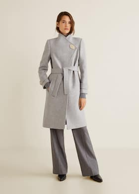 e4a91952d25 Button wool coat - General plane. Choose your size
