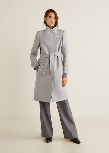 936dd752892 Button wool coat - General plane