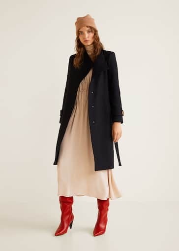 1bd66466711 Button wool coat - General plane