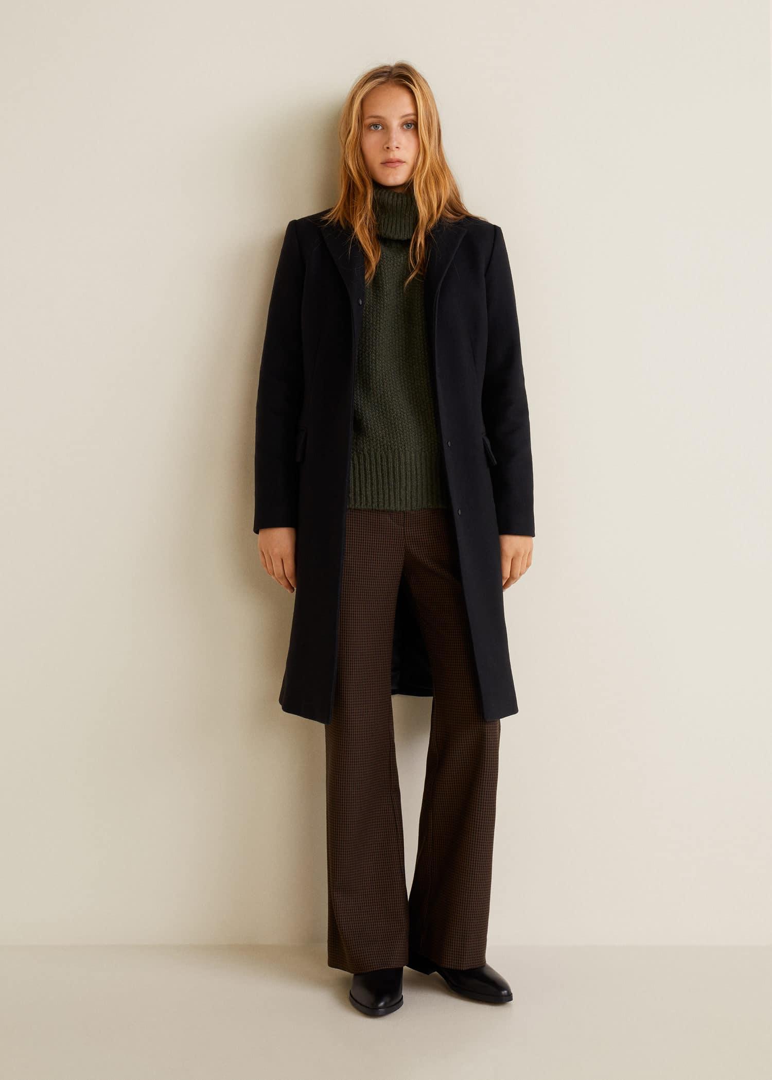 lindos zapatos Tienda vista previa de Abrigo lana estructurado - Mujer | Mango España