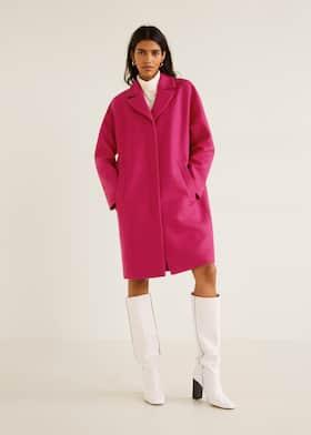 Strukturálatlan gyapjú kabát 2635e5b4c0