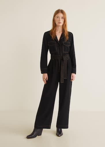 5417d4962690 Contrast seam jumpsuit - General plane