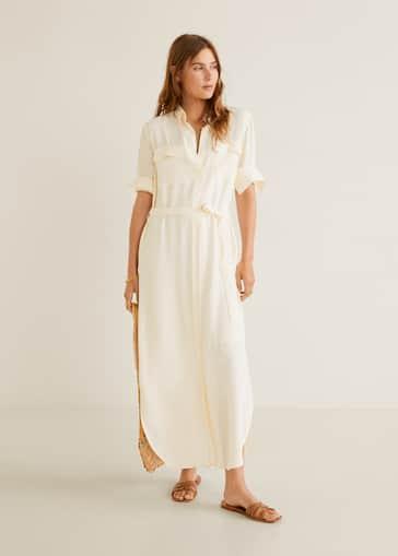 d740b8b16d Koszulowa sukienka w pasy - Plan ogólny