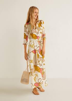 Šaty s potiskem řetězů - Celkový náhled d993401e767