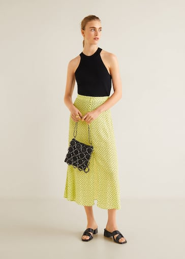 prevalent newest collection los angeles Polka dots midi skirt