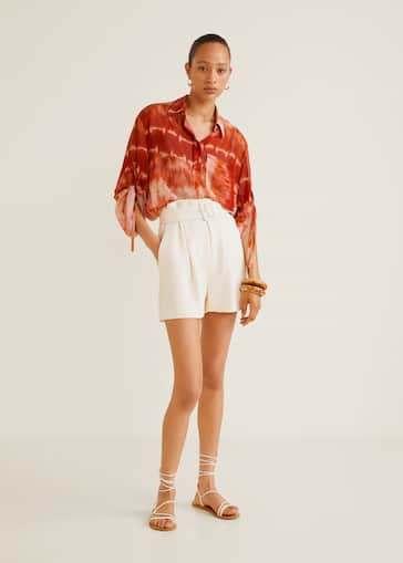 80d249882668a0 Flowy pleat shorts
