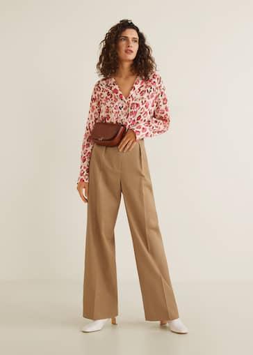 e2d8345fa18acb Chest-pocket printed shirt - Women | Mango USA