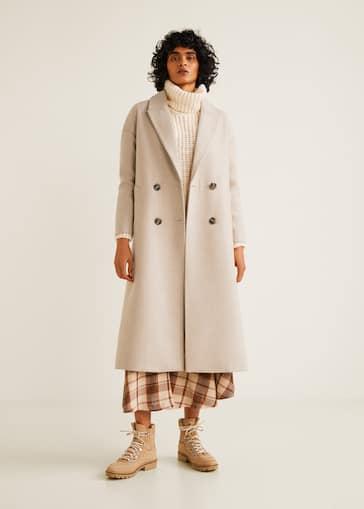 Strukturálatlan gyapjú kabát 5498e3d232