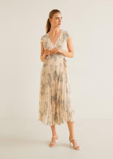 2cfc526d2 Vestido plisado floral - Plano general