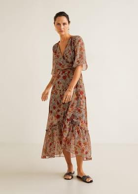 Φόρεμα σιφόν εμπριμέ - Γενικό πλάνο 7be35130c88