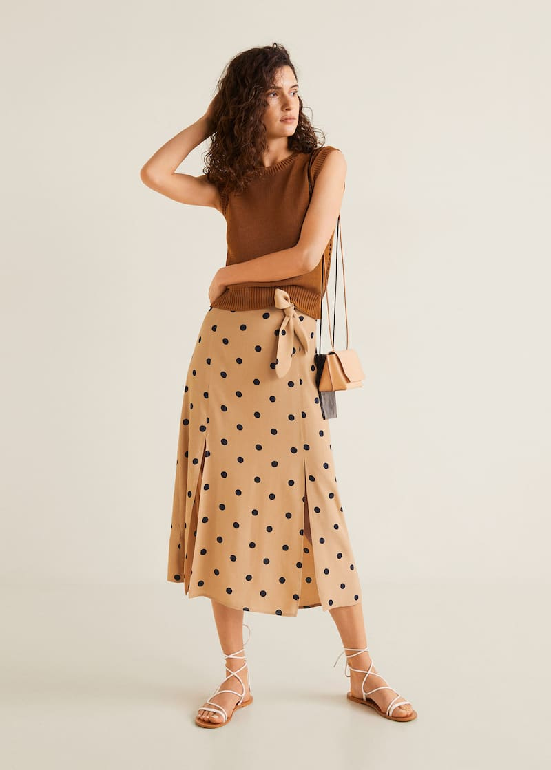 5cd24235a6 Polka dots midi skirt - General plane