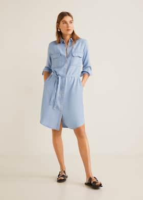 Мягкое платье в стиле денима 78a6405e07f51