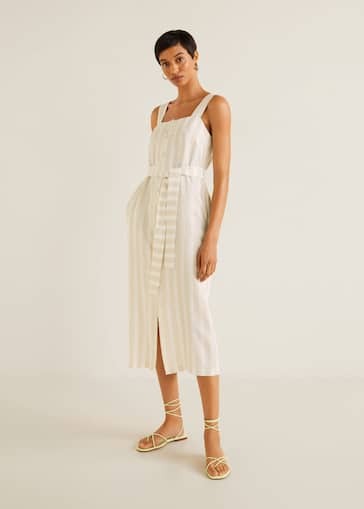 588caa7fef62 Striped midi dress - General plane