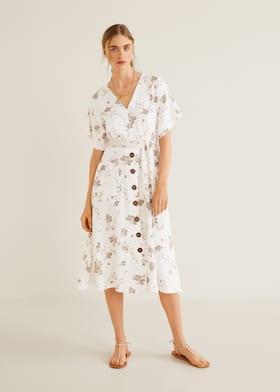 5535dadf8b5 Миди-платье с принтом - Общий план. Выберите размер