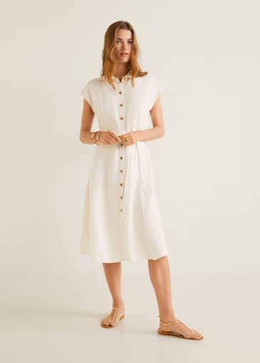 9c493ef5dc Linen-blend midi dress - General plane