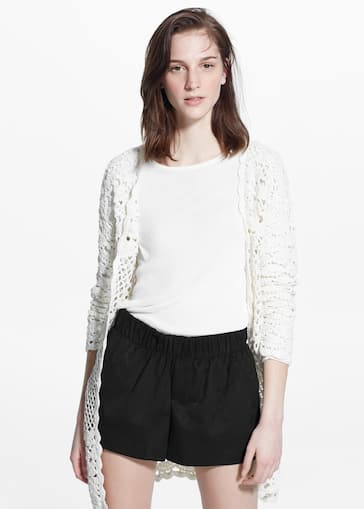 Cardigan crochet - Femme   MANGO Luxembourg 3382aee14235