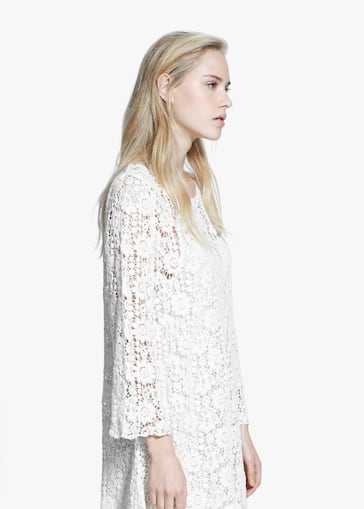 Guipure cotton dress - Women   MANGO USA