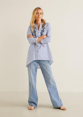 8dabbfb46db15 Embroidered details blouse - General plane