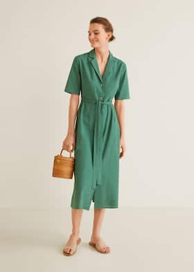 fa7fdc7f0a6 Платье-рубашка из хлопка - Общий план