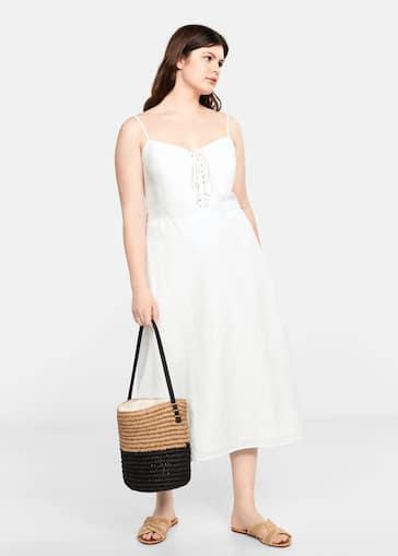 d9d08403eee8 Φόρεμα σταυρωτές ράντες - Γενικό πλάνο