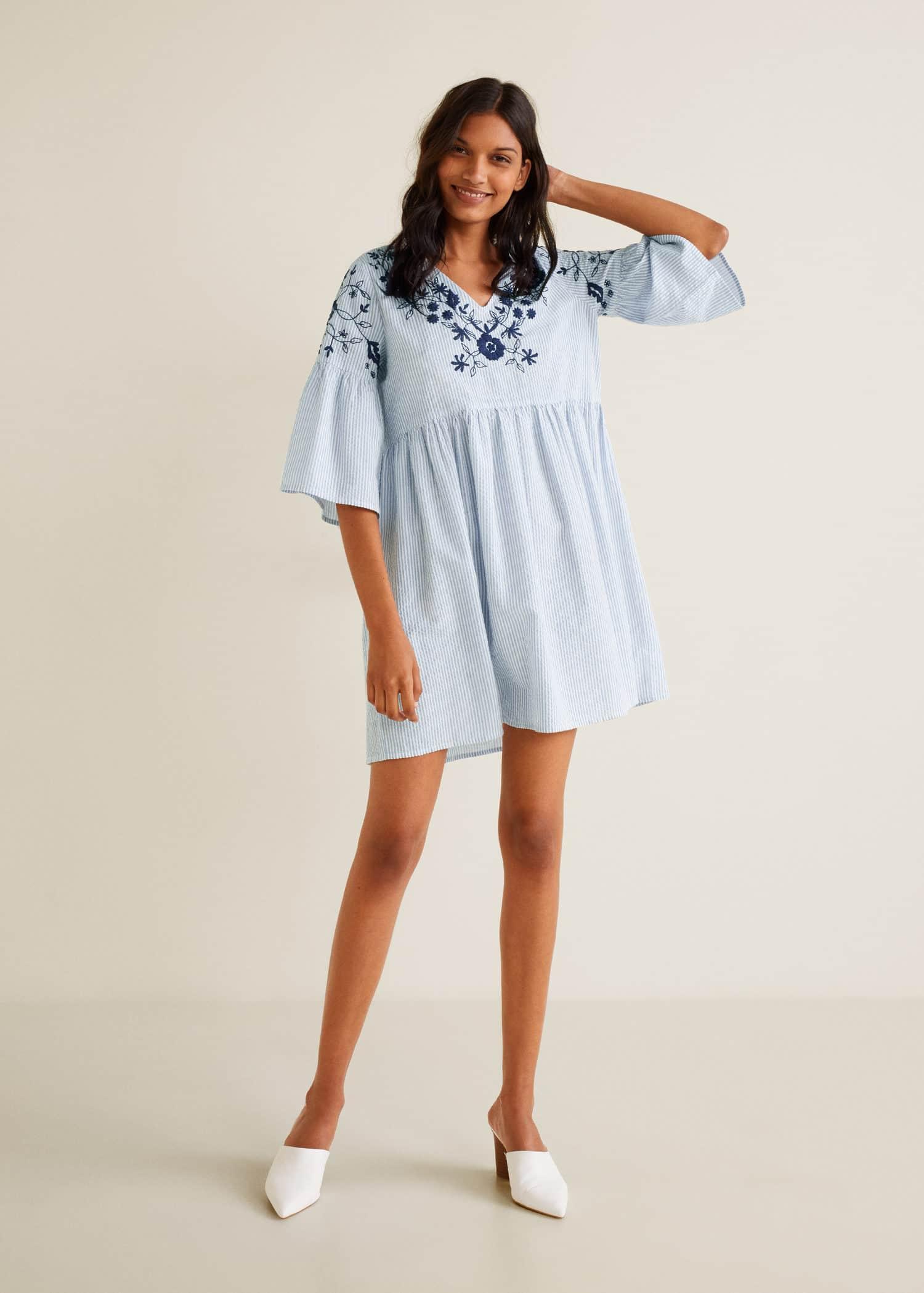 Kleid aus seide kurzen