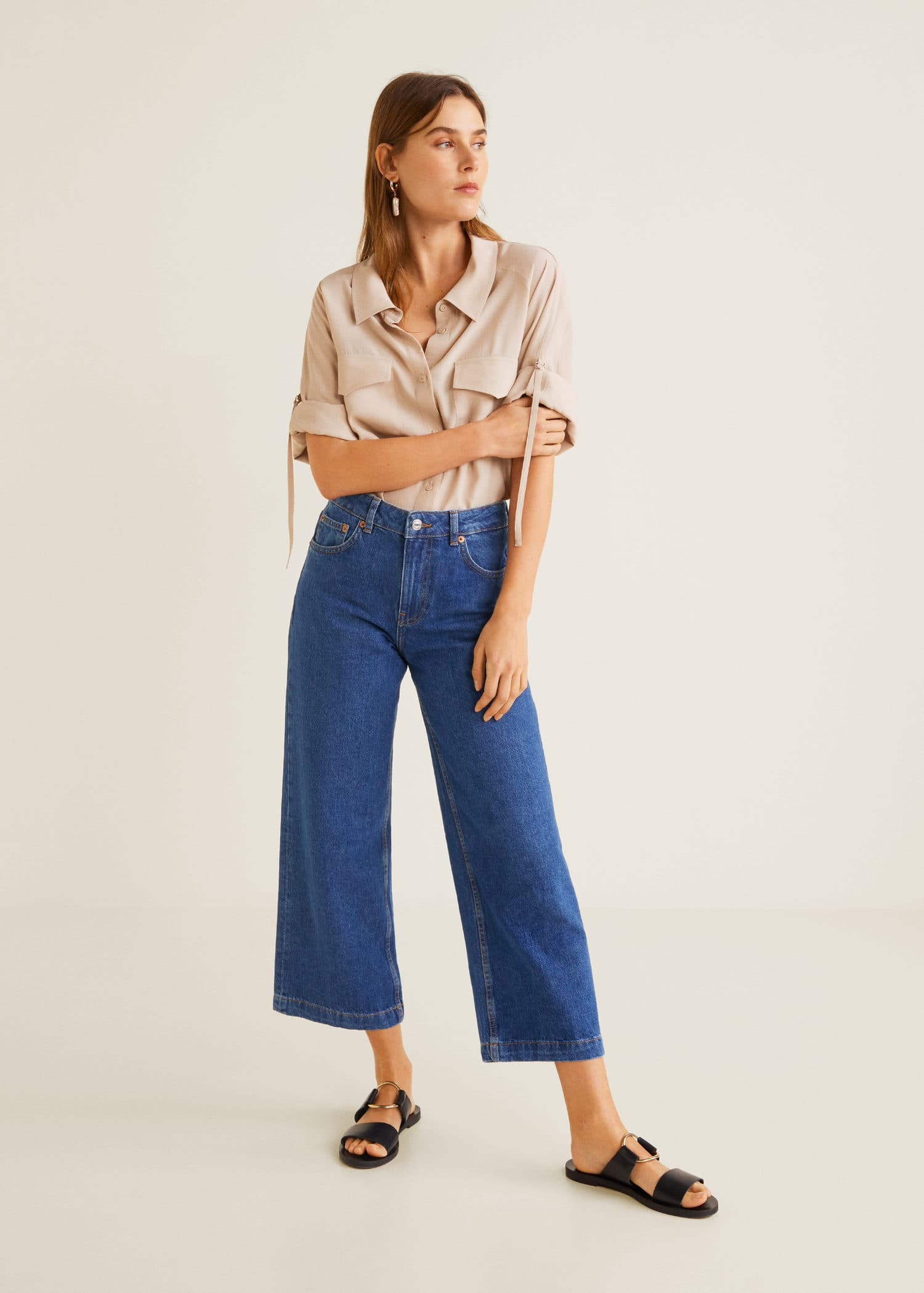 Relaxed España Culotte Jeans MujerMango Culotte Jeans Relaxed QxshdCtr