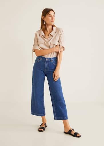 9886cb64776 Culotte relaxed jeans - General plane