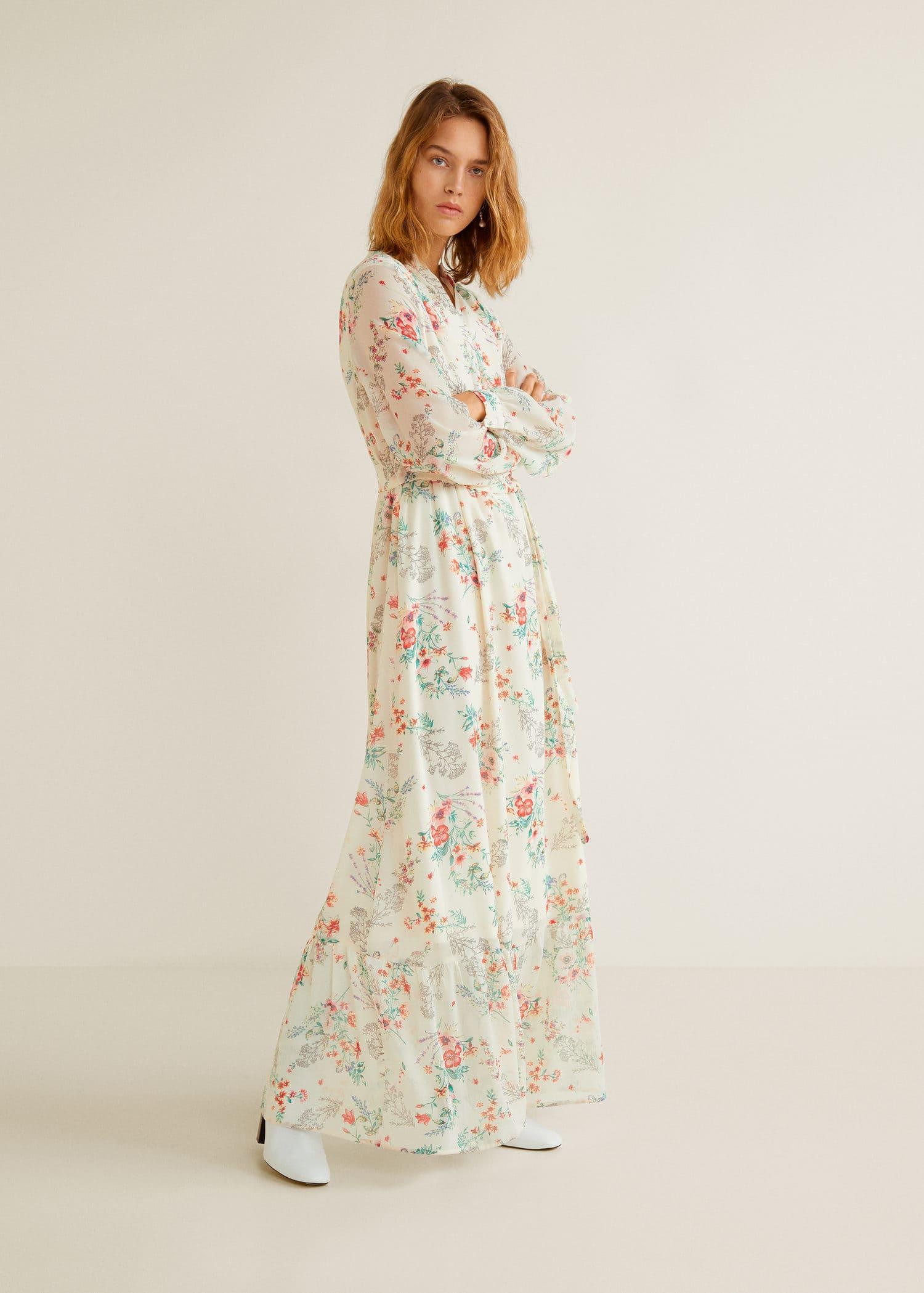 Vestidos largos de flores pequeð³â±as